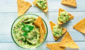 Receta Guacamole con nachos