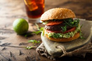 hamburguesa con guacamole